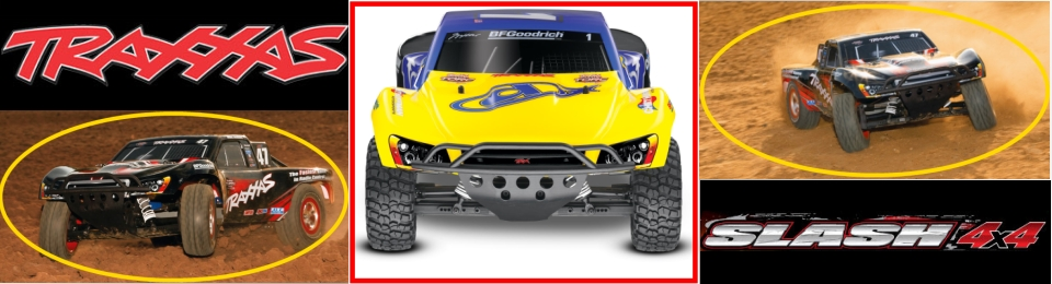 short coursre elecric rc truck traxxas slash 4x4